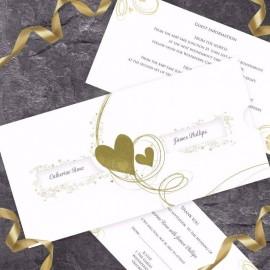 Gold Essence Wedding Invitation