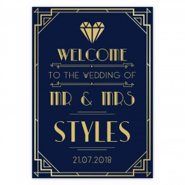 Great Gatsby Small Welcome Sign