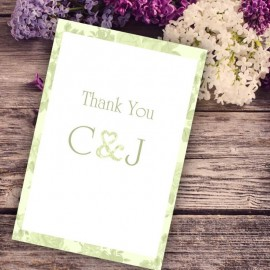 Green Vintage Charm Thank You Card