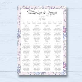 Happiness Flowers Wedding Table Plan