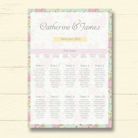 Happy Days Wedding Table Plan
