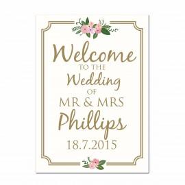 Honeymoon Large Wedding Sign