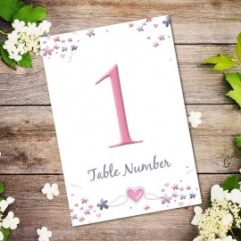 Je Taime Table Numbers - Pack of 10