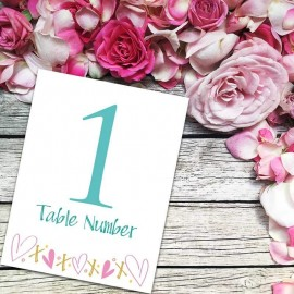 Jubilation Table Numbers - Pack of 10