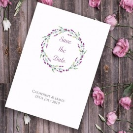 Lavender Save the Date Card