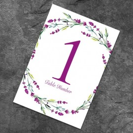 Lavender Table Numbers - Pack of 10