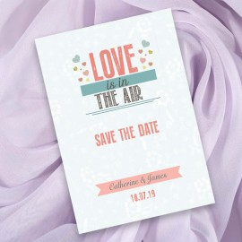 Love is in the Air Save the Date Card