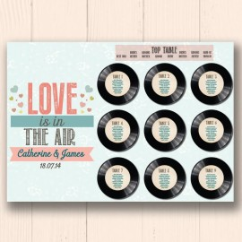 Love Is In The Air Wedding Table Plan
