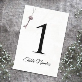 Love is the Key Table Numbers - Pack of 10