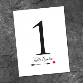 Love Match Table Numbers - Pack of 10