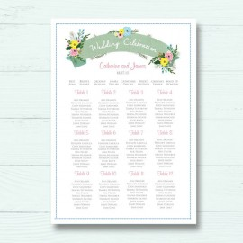 Marriage Vows Wedding Table Plan