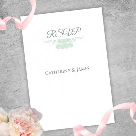 Mint Ethereal RSVP Card