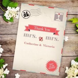 Kiss Kiss Thank You Card