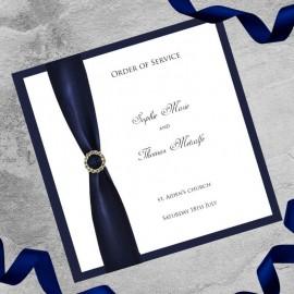 Navy Diamante Buckle Order of Service