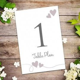 Newlyweds Table Numbers - Pack of 10