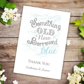 Old New Borrowed Blue Thank You Card