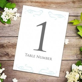 Old New Borrowed Blue Table Numbers - Pack of 10