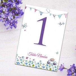 Our Big Day Table Numbers - Pack of 10