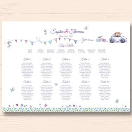 Our Big Day Wedding Table Plan