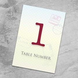 Passport To Love Table Numbers - Pack of 10