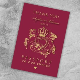 Passport to Love Thank You Card