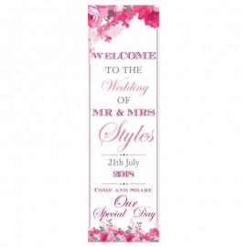 Peonies Pop-Up Wedding Sign