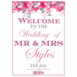 Peonies Large Welcome Sign
