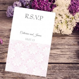 Pink Art Deco RSVP Card