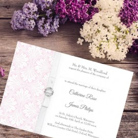 Pink Art Deco Wedding Invitation