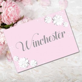 Pink Summer Blossom Table Names - Pack of 10