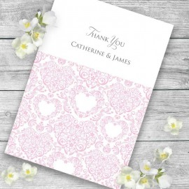 Pink Divine Thank you Card