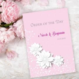 Pink Summer Blossom Order of Service