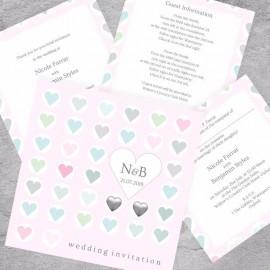 Classic Hearts Wedding Invitation