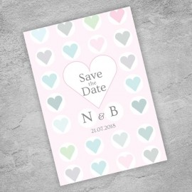 Classic Hearts Save the Date Card
