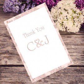 Pink Vintage Charm Thank You Card
