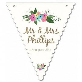 Pretty Posy Wedding Bunting