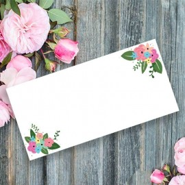 Pretty Posy Wedding Place Card