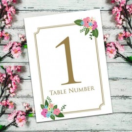 Pretty Posy Table Numbers - Pack of 10