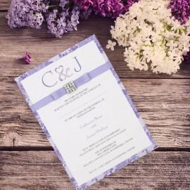 Purple Vintage Charm Wedding Invitation