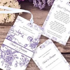 Purple Floral Romance Wedding Invitation