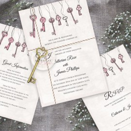 Love is the Key Wedding Invitation