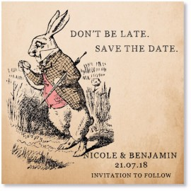 Rabbit Save the Date Card