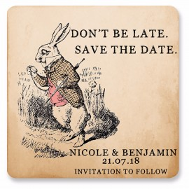 Rabbit Save the Date Magnet
