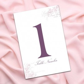 Radiant Rose Table Numbers - Pack of 10