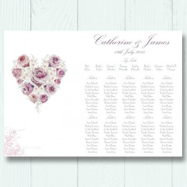 Radiant Rose Wedding Table Plan