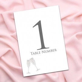 Raise Your Glasses Table Numbers - Pack of 10