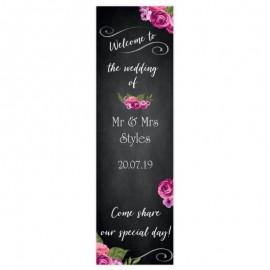 Romantic Chalkboard Pop-Up Wedding Sign