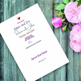 Romeo & Juliet Save the Date Card