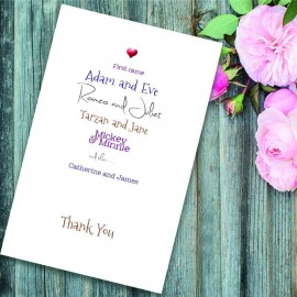 Romeo & Juliet Thank You Card