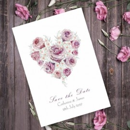 Radiant Rose Save the Date Card